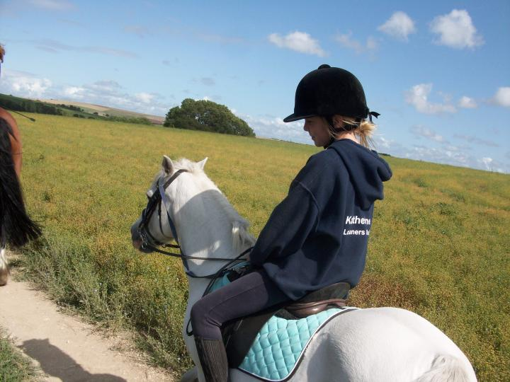 Katherine and Snowy Hacking!
