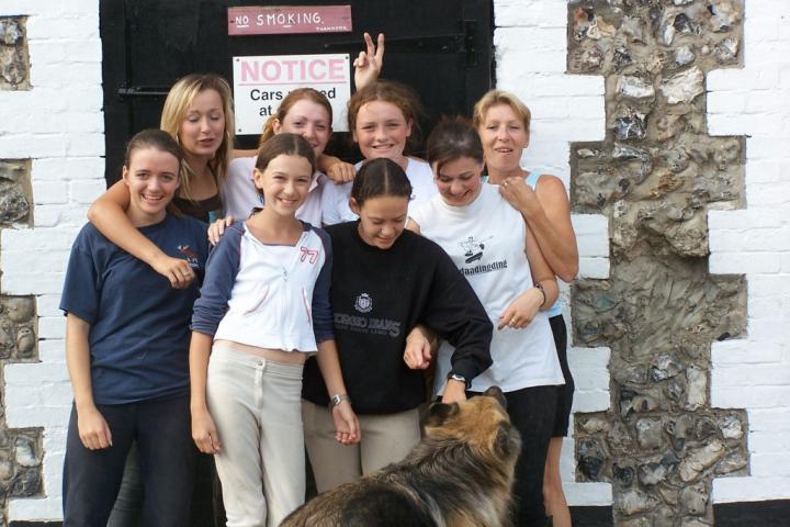 Back row: Lilliy, Jolene, Jess, Sue.  Front row: Eleanor, Beth, Kim, Liz and Lottie (dog)