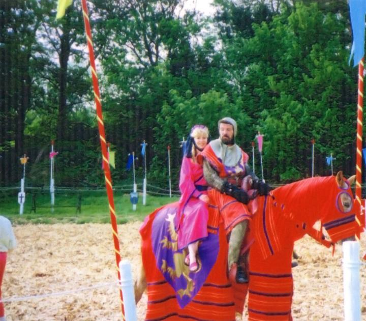 Richard and Sue Jousting during the Eighties